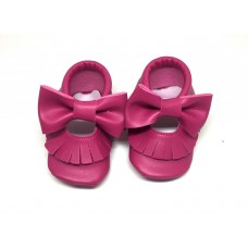 Fuşya yazlık bebek ilk adım ayakkabısı
